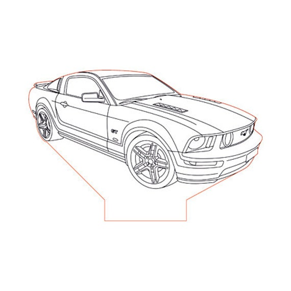 Lamp 3D design: Ford Mustang 5 G