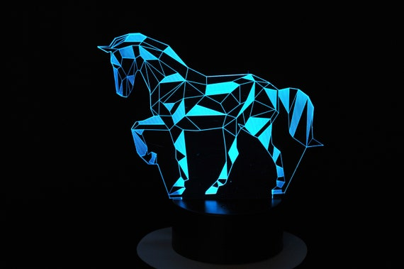 Lamp 3D pattern: Wired horse