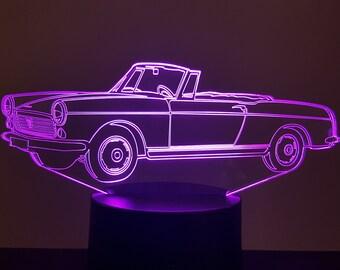 Lamp 3D pattern: Peugeot 404 cabriolet
