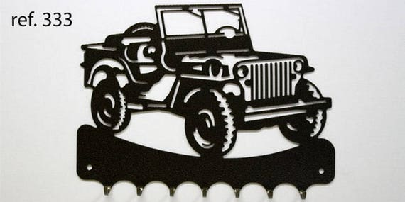Hangs 26 cm pattern metal keys: jeep
