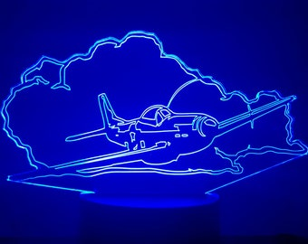 Lamp 3D pattern: P51 mustang