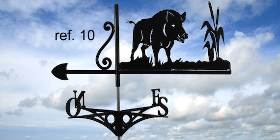 Weathervane with roof lonely boar