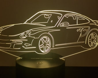 Lamp 3D design: porsche 911 997 Cup