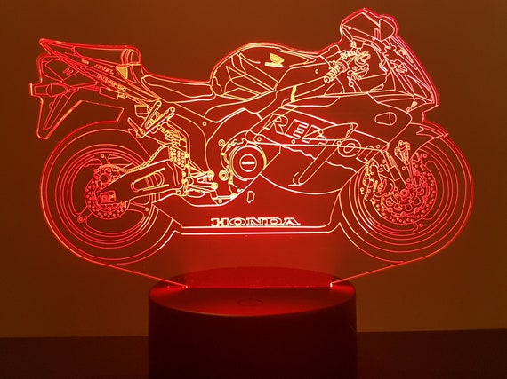 MOTORCYCLE HONDA REPSOL 1000RR - mood lamp 3D led, laser engraving on acrylic, usb cable or battery power.