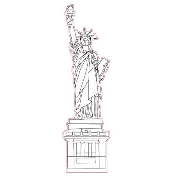Lamp 3D design: New York Statue of liberty