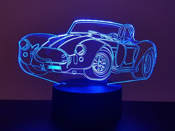 AC COBRA - Mood lamp 3D led, laser engraving on acrylic, usb cable or battery power.