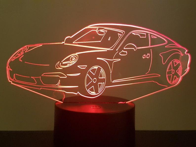 Usb À Laser 3d D'ambiance P911 Coupé Sur 991 Câble Piles LedsGravure AcryliqueAlimentation Par Ou Lampe 4j3AR5L