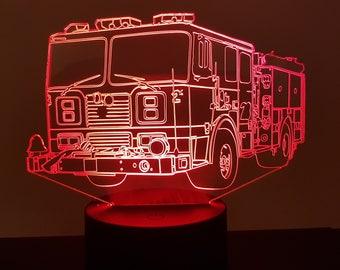 Lamp 3D pattern: fire truck
