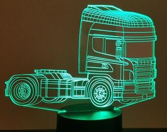 """Lamp 3D design: """"Scania"""""""