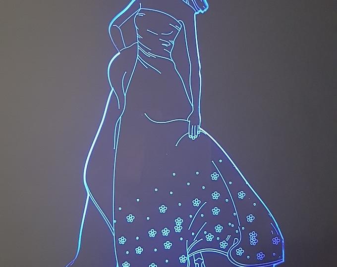 Lamp 3D design: Princess