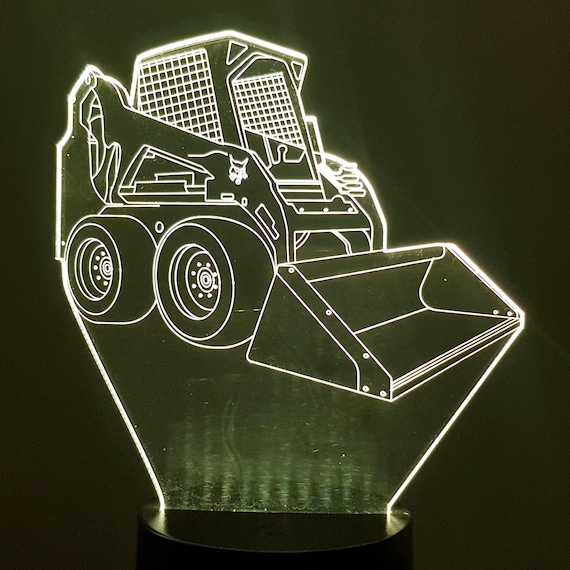 BOBCAT charger - Mood lamp 3D led, laser engraving on acrylic, power by USB cable or batteries