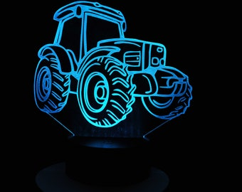 Lamp 3D design: tractor