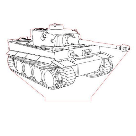 Lamp 3D pattern: Tiger tank