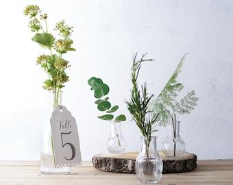 Set Of 3 Bud Flower Vase Centerpiece   Vintage Wedding Bud Vase Centerpiece    Vintage Wedding Bloom Vase For Flowers   Wedding Table Numbers
