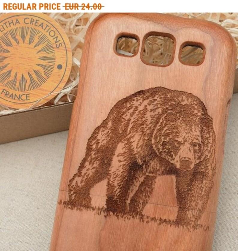 Russian Bear Samsung Note 9 8 5 Galaxy S9 S9 S8 S8 S7 S6 Edge Animals Design Wood Phone Case