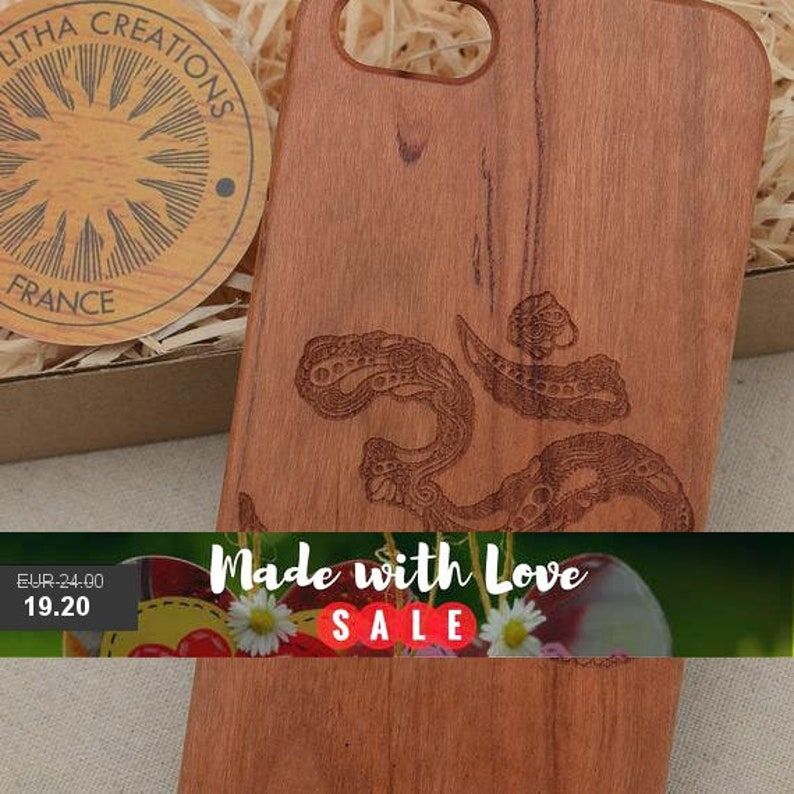 OM Wood Phone Case Samsung Note 9 8 5 Galaxy S9 S9+ S8 S8+ S7 S6 edge  Ethnic Symbols Custom Design Cherry Wooden Cover