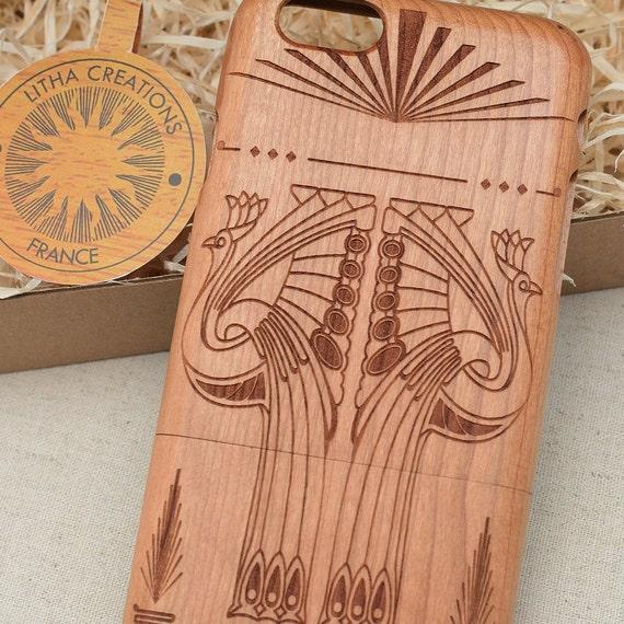 Art Deco Art Nouveau Wood Phone Case Samsung Galaxy S10 S9 S9+ S8 S8+ S7 S6  edge Note 9 8 5 Collection Custom Design Selection