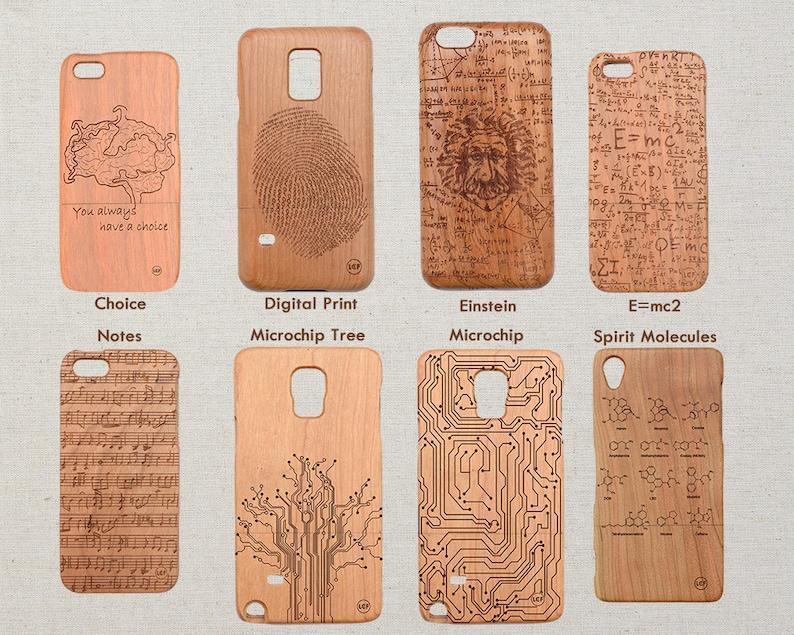 Science Art iPhone Huawei Samsung HTC Sony Xperia Wood Phone image 1