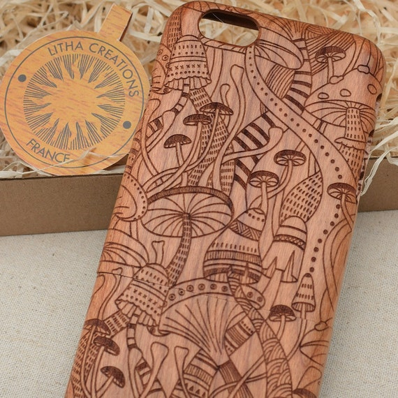 Psychedelic Dmt Wood Phone Case Samsung Note 9 8 5 Galaxy S9 S9 S8 S8 S7 S6 Edge Custom Design Natural Cherrry Wooden Cover