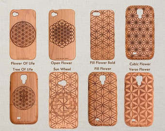 Flower of Life Collection iPhone Huawei Samsung HTC Sony Xperia Wood Phone Case