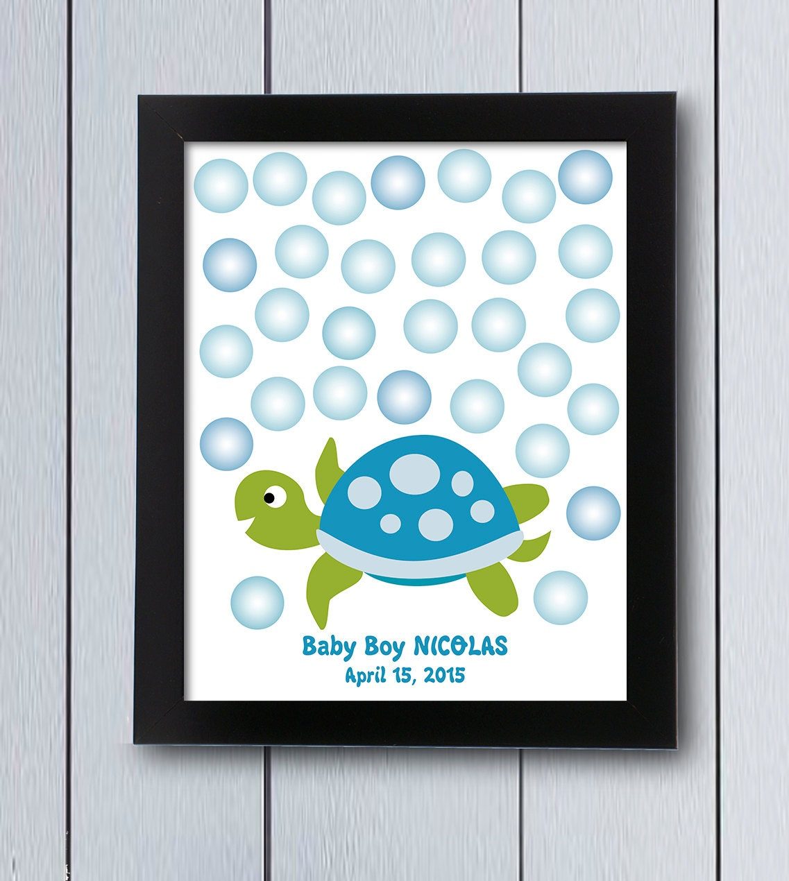 This is a picture of Fabulous Baby Shower Guest Book Printable