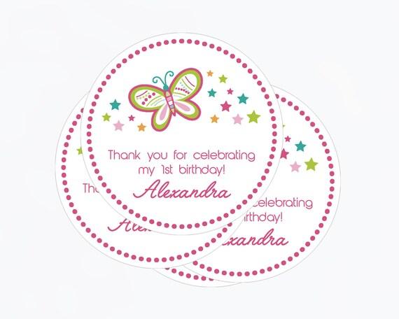 Etiqueta Mariposa Tarjeta Agradecimiento Baby Shower | Etsy