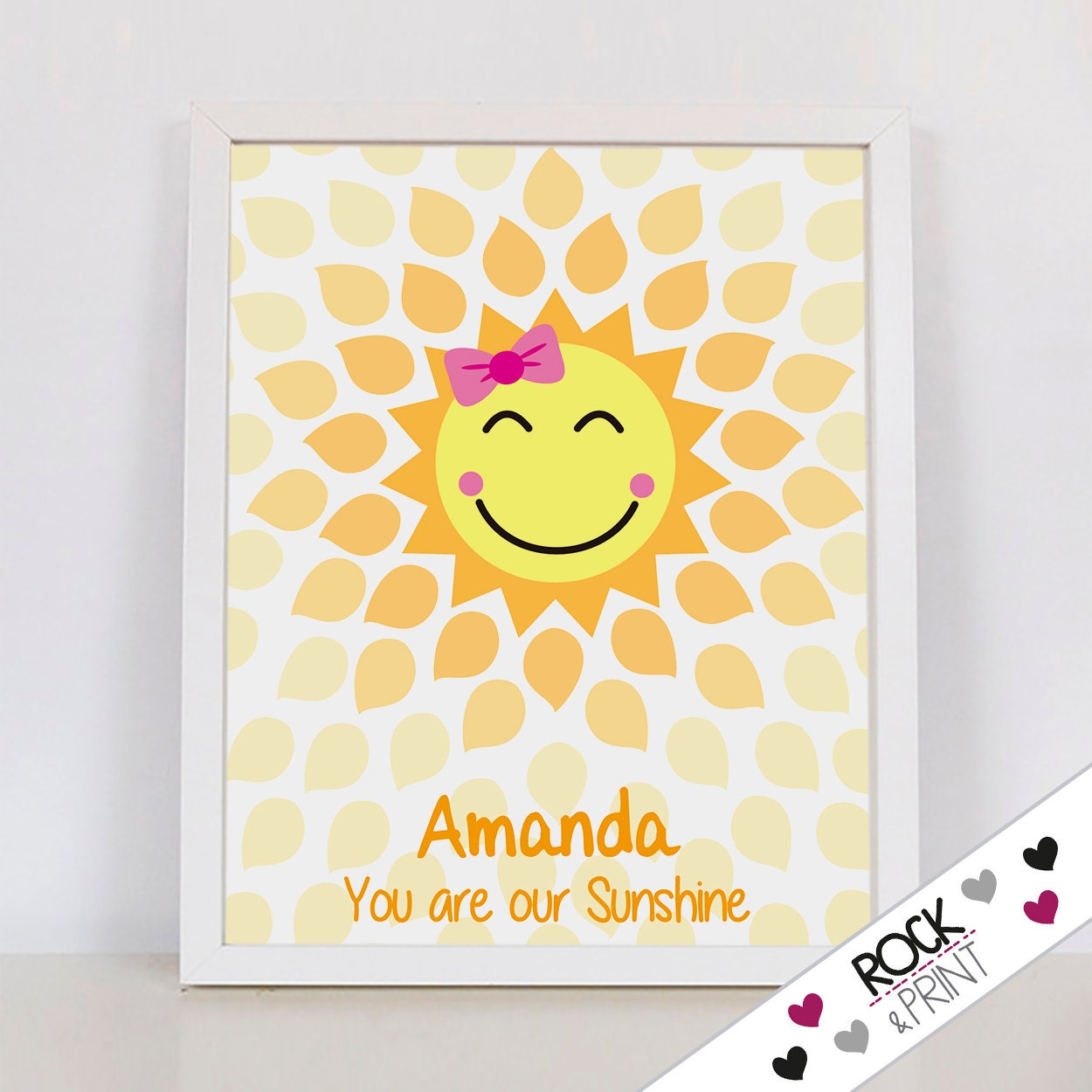 You are my sunshine Guestbook Baby Shower birthday / printable | Etsy