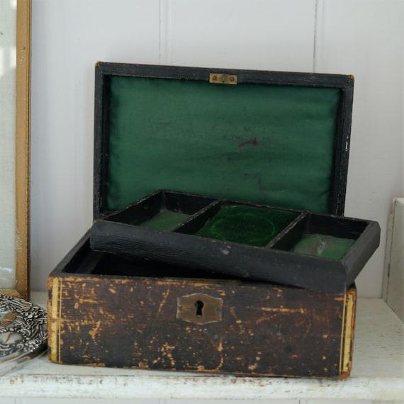 Antique Wooden Jewellery Box, Vintage Wooden Keepsake Box, Victorian Jewellery Box, Vintage Wooden Storage Box, Vintage Wooden Treasure Box