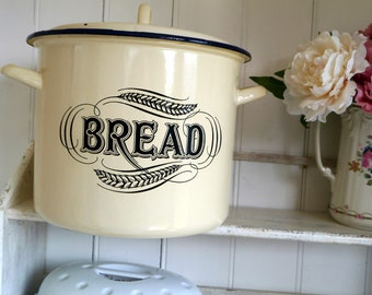Tala Enamel Bread Box, Round Enemal Bread Bin, Retro Bread Bin