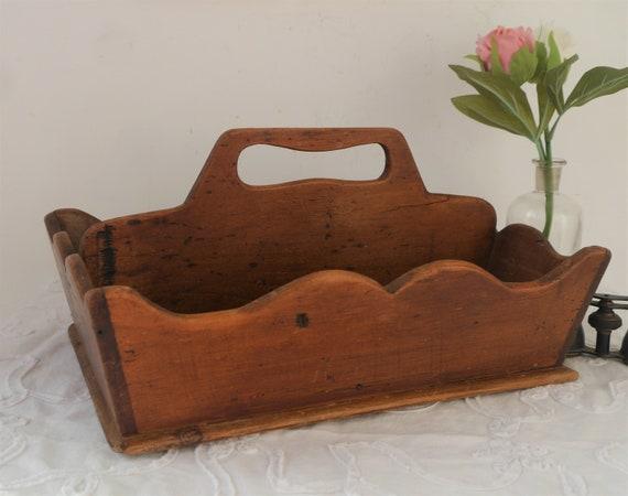 Vintage Cutlery Tray, Wooden Cutlery Tray, Desk Organiser, Storage Tray, Rustic Charm