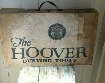 Vintage Box, Old Hoover Tool Box, Vintage Cardboard Box, Vintage Advertising Box, Vintage Cardboard Storage Box, Vintage Box for Display