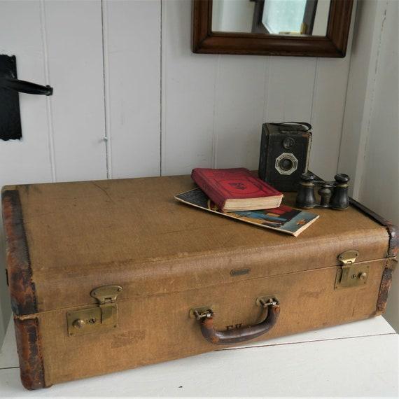 Vintage Suitcase, Vintage Travel Case, Vintage Luggage, Vintage Travel Trunk By Hartmann Trunk Co, Weekend Travel Case