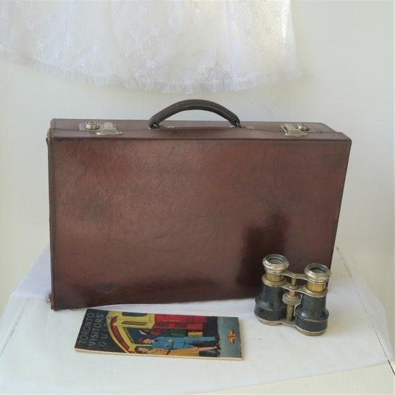 Vintage Pendragon Leather Case, Small Vintage Pendragon Suitcase, Leather Document Case, Leather Attache Cae, Vintage Storage