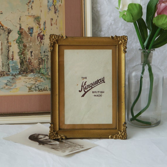 Vintage Easel Style Tinplate Picture Frame