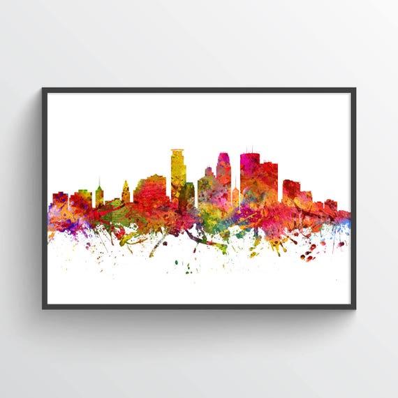 Minneapolis Poster Skyline