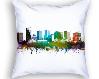 Phoenix Pillow, 18x18, Phoenix Skyline, Phoenix Cushion, Phoenix Pillow, Throw Pillow, Cushion, Home Decor, Gift Idea, Pillow Case 01