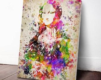 Mona Lisa Print, Mona Lisa Canvas Print, Mona Lisa Art Print, Mona Lisa Decor, Home Decor, Gift Idea