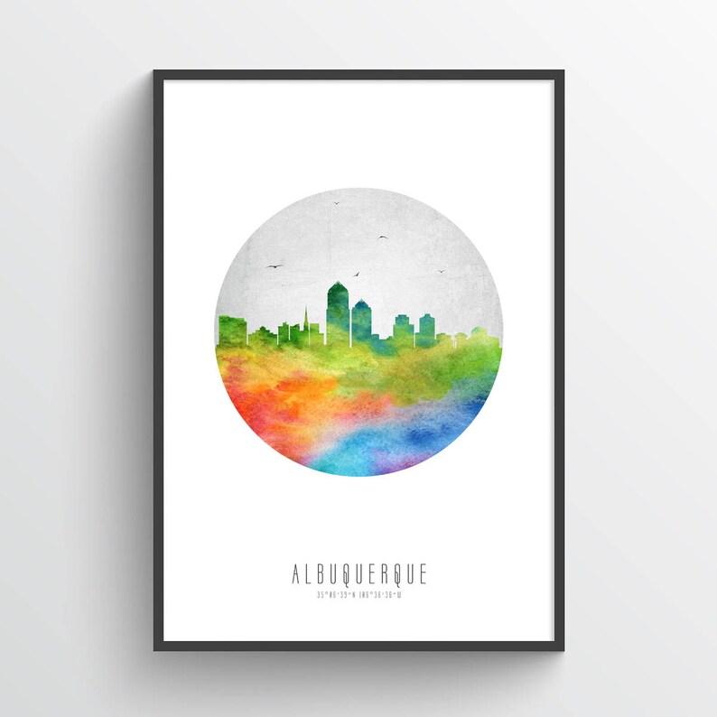 Albuquerque Skyline Poster Cityscape