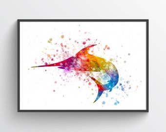 Marlin Poster, Marlin Print, Marlin Art Print, Marlin  Decor, Home Decor, Gift Idea