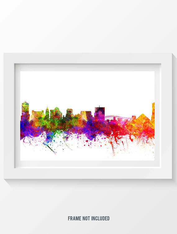 memphis tennessee skyline in color poster home decor gift etsy. Black Bedroom Furniture Sets. Home Design Ideas