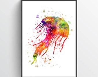 Jellyfish Poster, Jellyfish Print, Jellyfish Decor, Jellyfish Wall Art,  Home Decor, Gift Idea