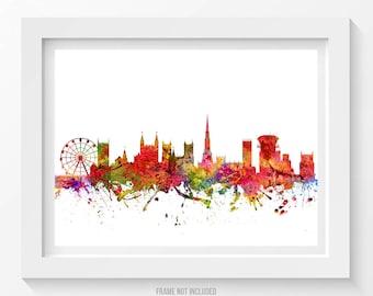 Bristol Poster, Bristol Skyline, Bristol Cityscape, Bristol Print, Bristol Art, Bristol Decor, Home Decor, Gift Idea 08
