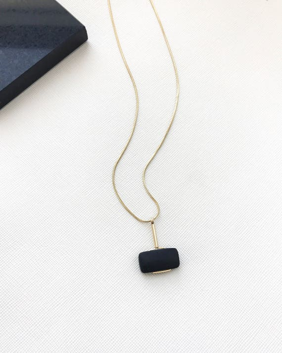 LAZLO necklace -  Matte Black Onyx