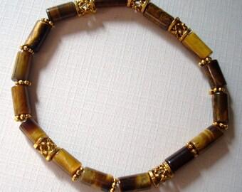 Tigers Eye Gemstone Beads Stretch Bracelet