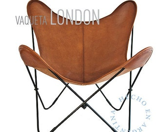 Original Leather Butterfly Chair   100% Handcrafted   Big BKF Buenos Aires