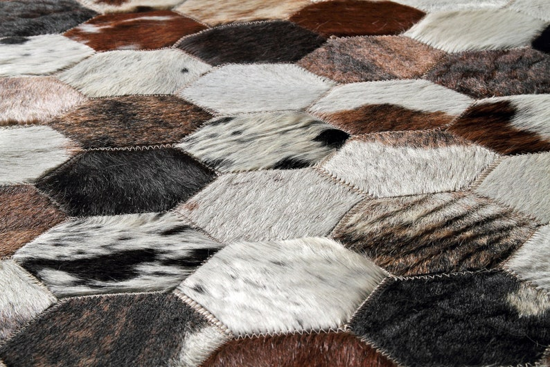 Sewing Patchwork Handmade Cow Hair Rug Original Hides Rugs And Carpets Home