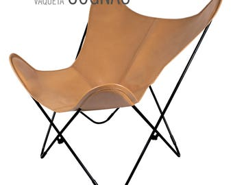 Original leather butterfly chair - 100% handcrafted - Big BKF Buenos Aires