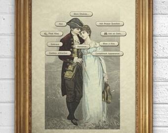 Vintage Illustration - Video Game-  The Sims - Romance - Art Print