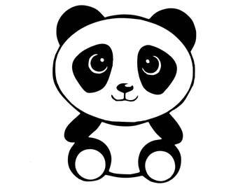 Panda Gesicht Aufkleber Panda Fenster Aufkleber Panda Etsy