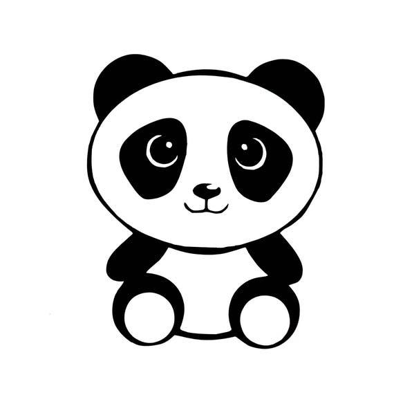 PANDA BEAR HEART Vinyl Decal Sticker Car Window Wall Bumper I Love Cute Animal
